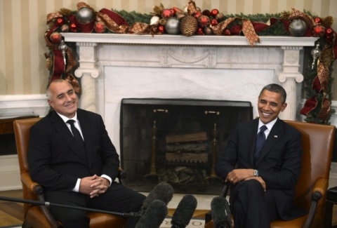 Borisov and Obama in White House